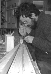 Woodworker Jason Breen at work