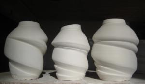 swirl vases